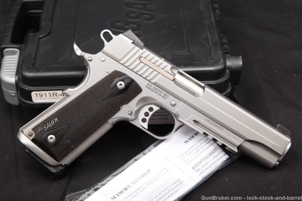 Sig Sauer 1911 Railed 1911A1 .45 ACP 5″ Single Action Semi-Auto Pistol