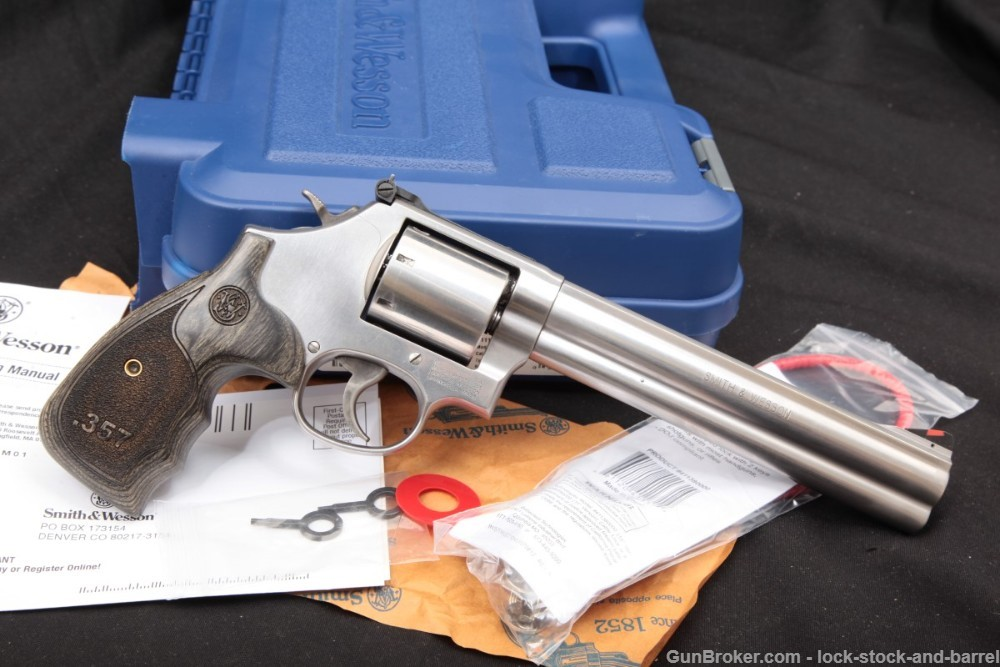 Smith & Wesson S&W 686-6 3-5-7 150855 7″ 7-Shot .357 Magnum Revolver, 2018