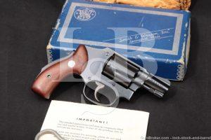 Smith & Wesson S&W Model 40 Centennial Blue .38 Spl Revolver, 1955-1966 C&R