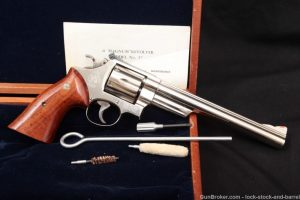 "Smith & Wesson S&W Model 57-1 Nickel 8 3/8"" .41 Magnum Revolver, 1986 NO CA"