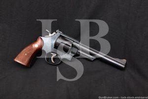 """Smith & Wesson S&W Pre-Model 29 Blue 6 1/2"""" .44 Magnum Revolver, 1957 C&R"""