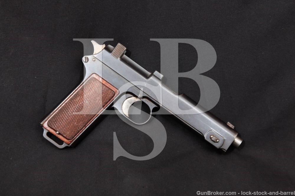 Steyr-Hahn M-1912 M1912 9mm Steyr Austrian Semi-Auto Pistol, MFD 1916 C&R