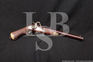 Swedish Model 1850 .75 Cal Percussion Single Shot Pistol, MFD 1856 Antique
