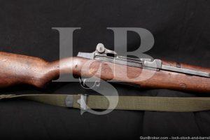 US WWII Springfield M1 M-1 Garand .30-06 Semi Automatic Rifle, MFD 1941 C&R