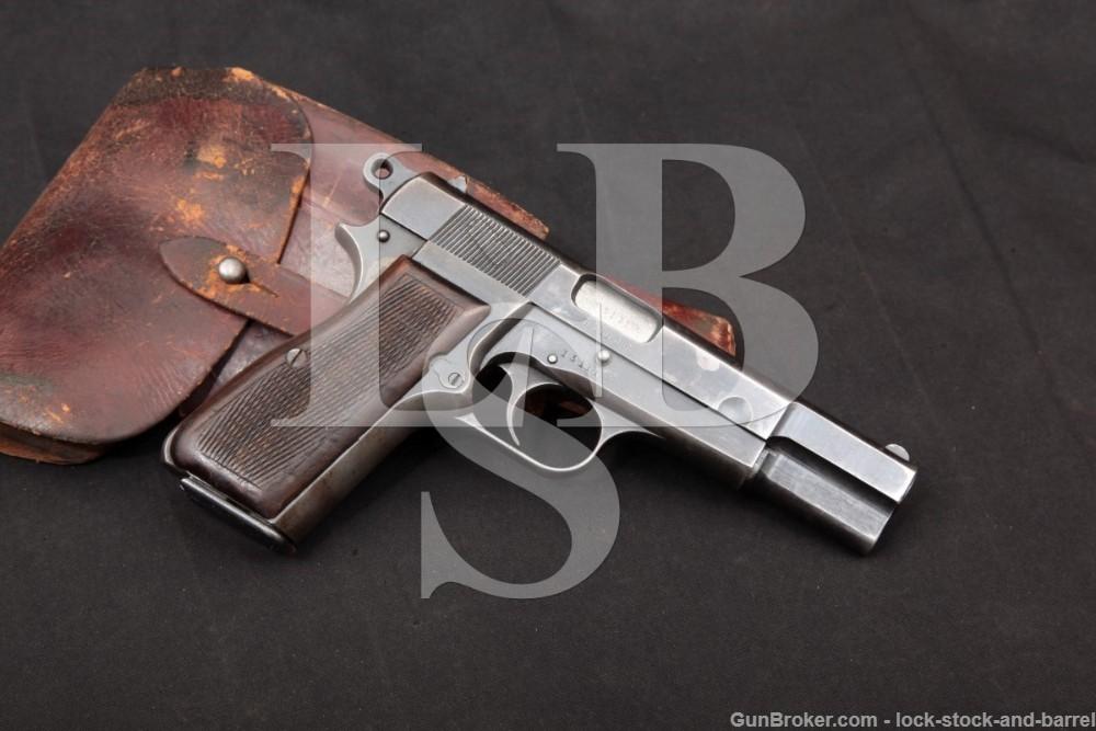 WWII Nazi Marked FN P35 M1935 Hi Power Fixed Sight 9mm Semi-Auto, 1943 C&R