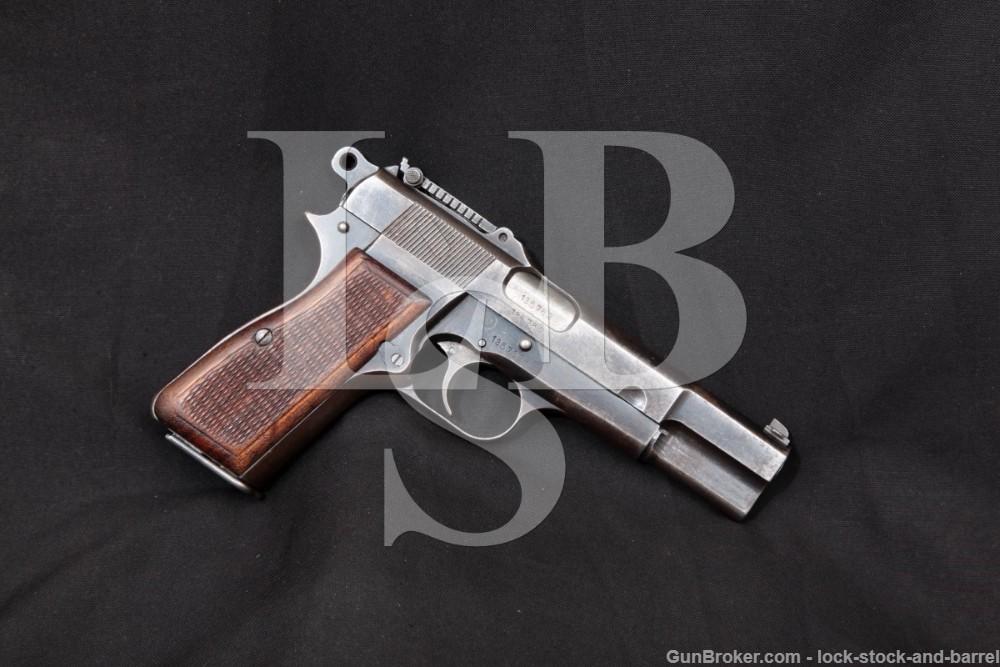 WWII Nazi Marked FN P35 M1935 Hi Power Tangent Sight 9mm Semi-Auto 1942 C&R