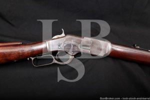 "Winchester 1st Model 1873 24"" Heavy Barrel .44-40 Lever Rifle, 1876 Antique"