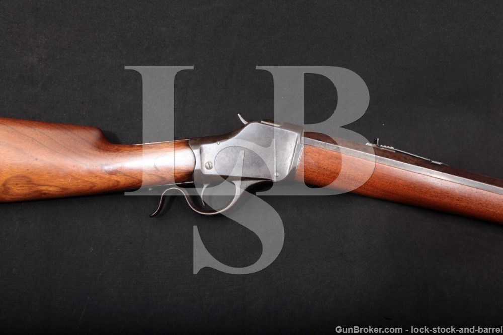 """Winchester Model 1885 High-Wall 32"""" .38-55 Single Shot Rifle, 1895 Antique"""