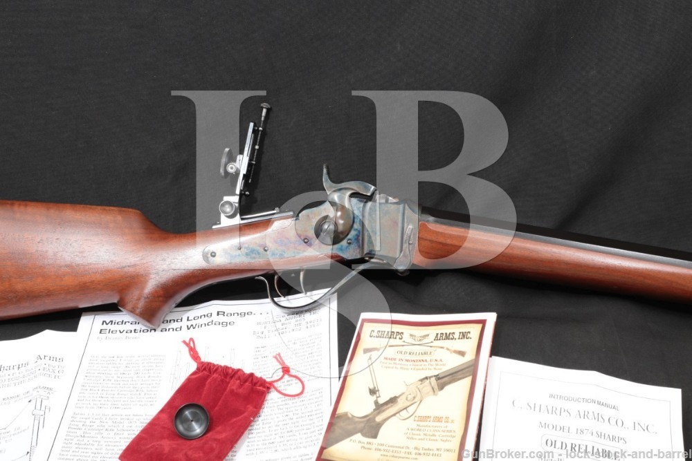 """C. Sharps Arms Old Reliable 1874 Bridgeport Sporting Rifle 26"""" .45-70 Gov't"""