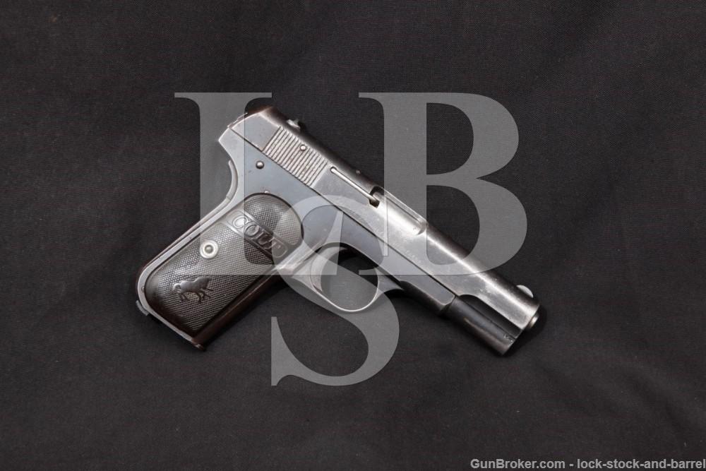 Colt 1903 Pocket Hammerless Belgian Contract .32 ACP Semi-Auto Pistol, C&R