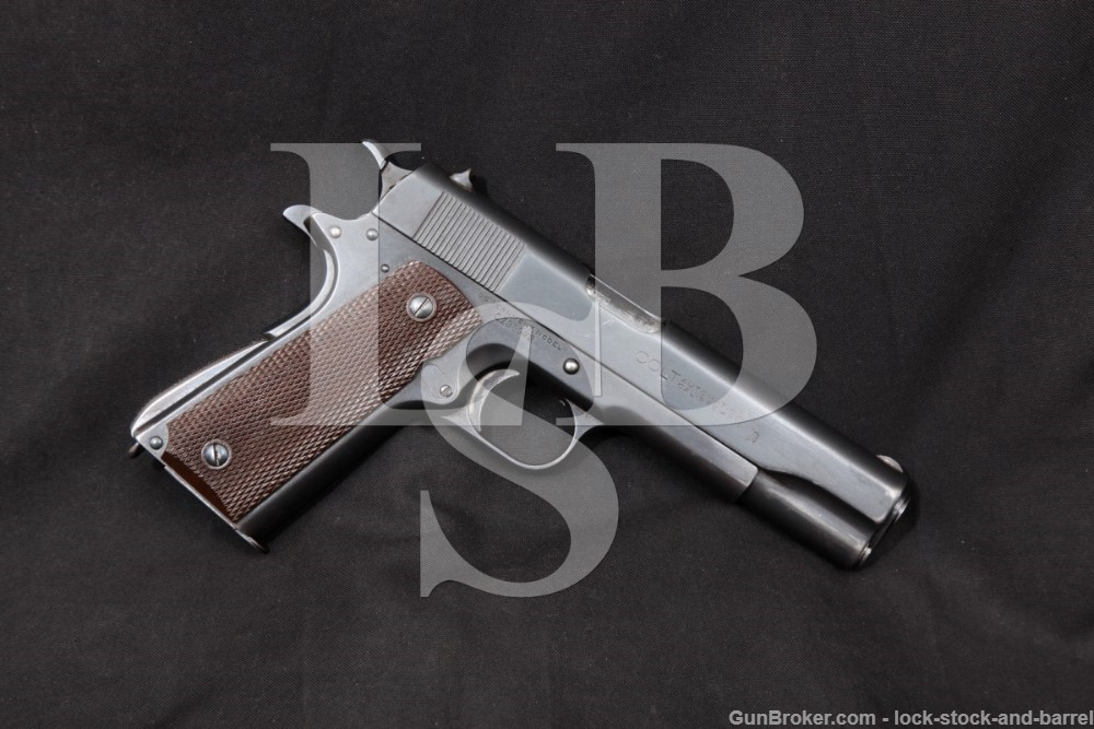 Colt 1911 Commercial Government Model Transitional Pistol, MFD 1924 C&R