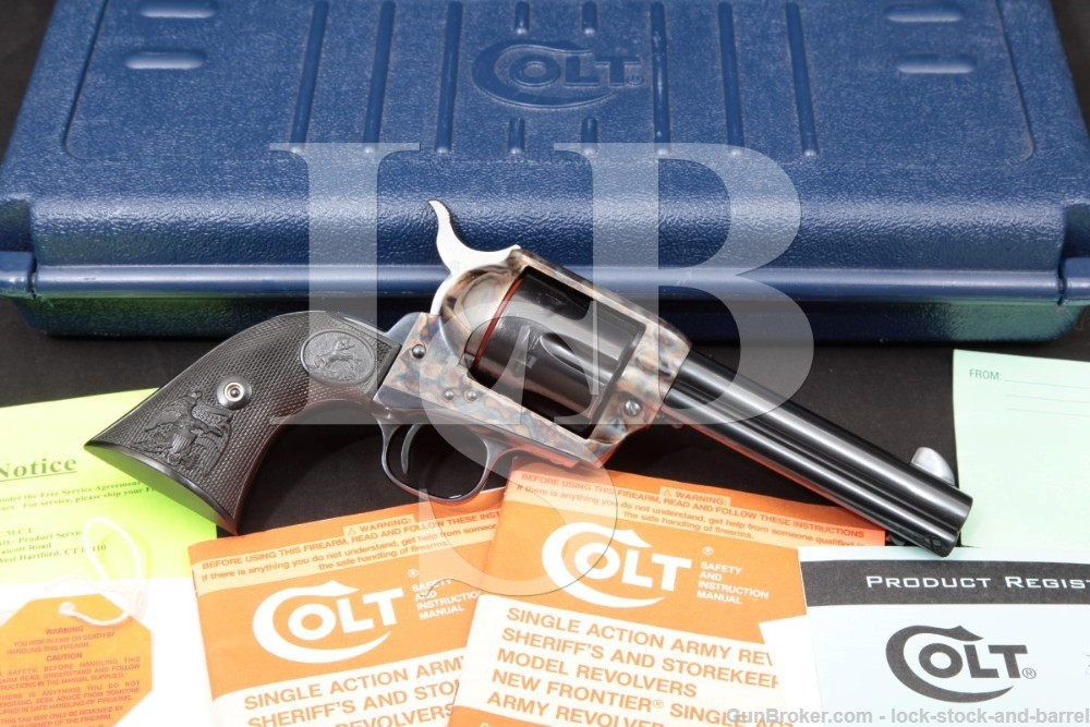 "Colt 3rd Gen Single Action Army SAA 4 3/4"" .44-40 44 WCF Revolver, MFD 1998"