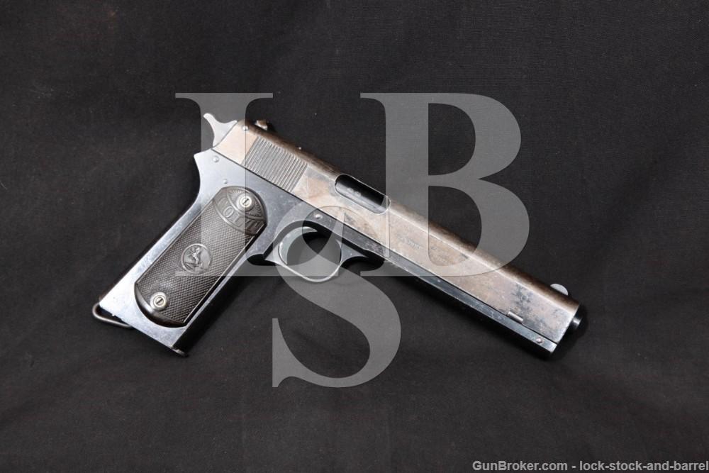 Colt Model 1902 Military 38 ACP Rimless Smokeless Semi-Auto Pistol 1915 C&R