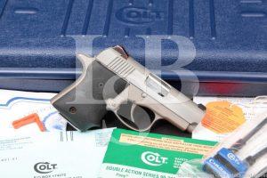 "Colt Model Pocket Nine 9 Stainless 3"" Semi Automatic Pistol & Box"