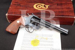 "Colt Trooper Mark Mk III MKIII Model J4267 6"" Blue .22 LR Revolver MFD 1980"