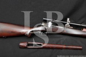 Custom Springfield US Model 1903 .30-06 Bolt Rifle & Unertl Scope, 1907 C&R