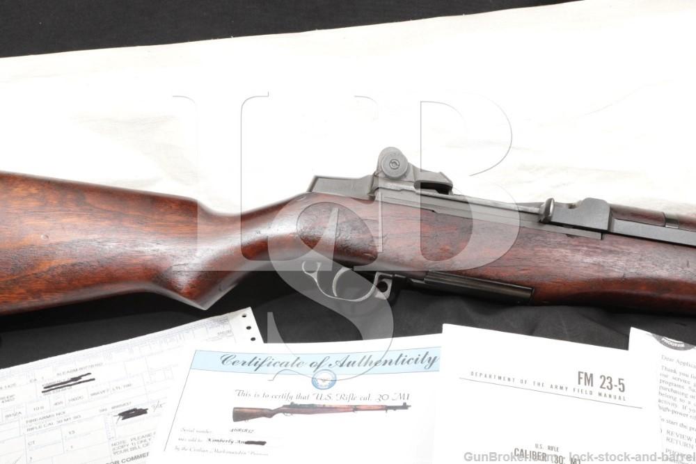 H&R M1 Garand CMP Certificate White Bag .30-06 Semi Automatic Rifle C&R
