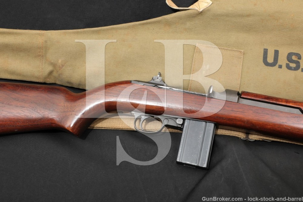 Inland Div. M1 Carbine .30 Cal Matching Semi Automatic Rifle Soft Case C&R