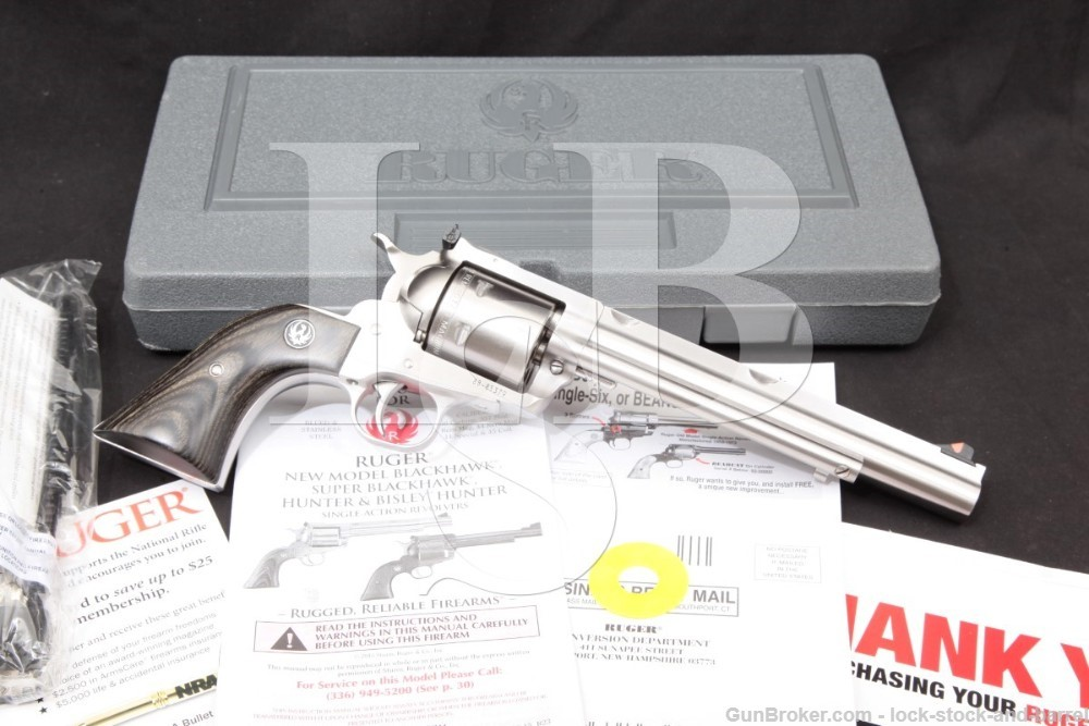 "Ruger New Model Super Blackhawk Hunter 00860 .44 Mag 7.5"" Revolver MFD 2016"