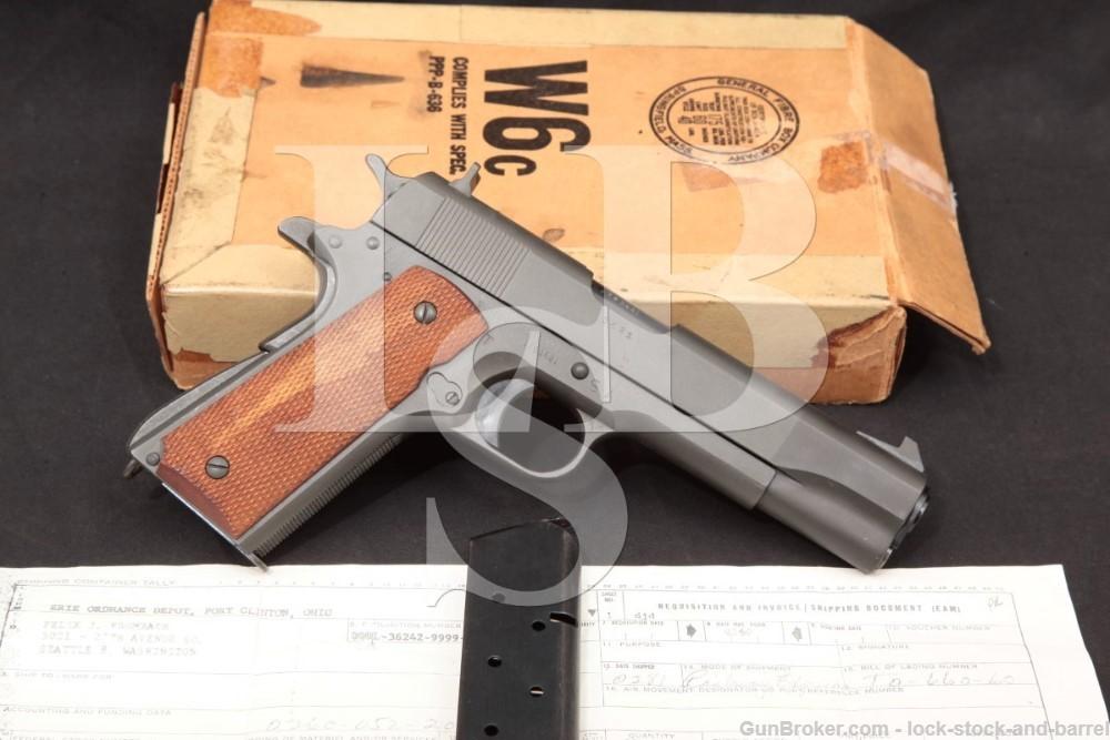 USGI Springfield Armory National Match NM Colt/Remington Rand, MFD 1944 C&R