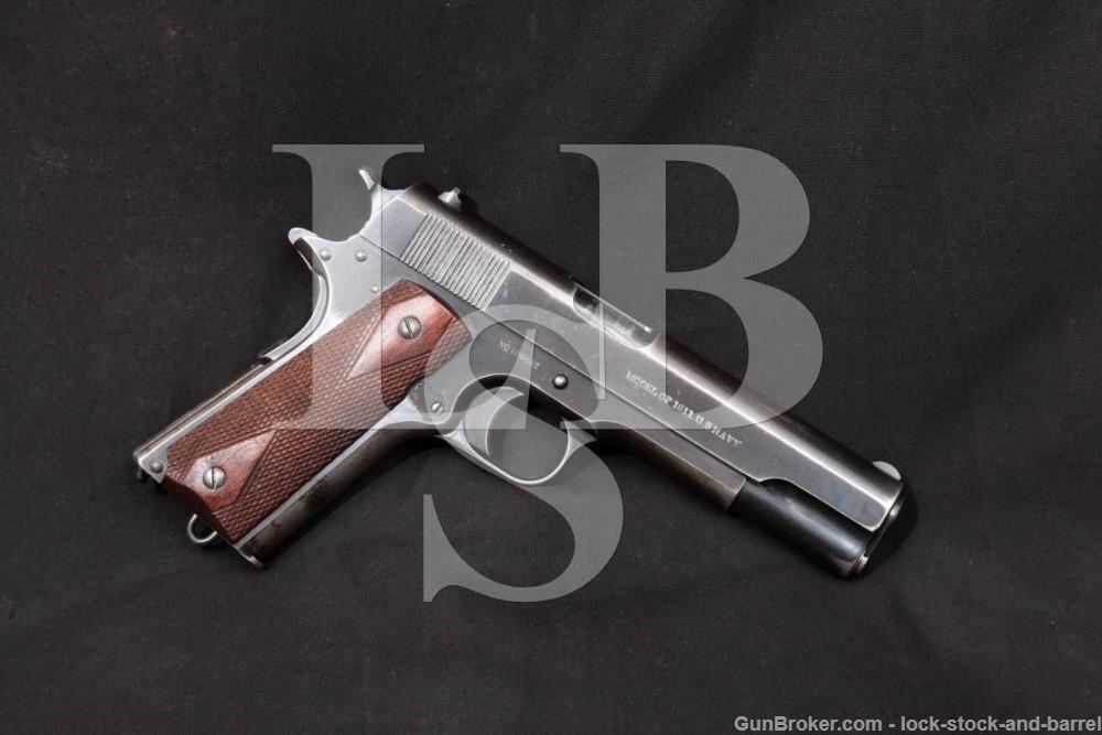USN Colt Model of 1911 U.S. Navy .45 ACP Semi-Auto Pistol, MFD 1915 C&R
