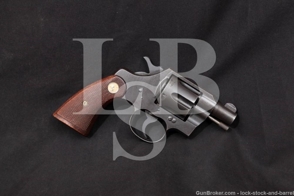 "WWII U.S. Colt Commando Model 2"" Parkerized .38 Special Revolver, 1942 C&R"