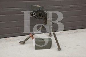 WWII US M1917A1 Tripod Lamson 1942 Aircraft Cradle T&E Dial & Ammo Boxes