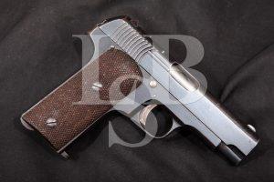 Spanish S. A. Alkartasuna Model Ruby, Blue, 3 11/16 SA Semi-Automatic Pistol, MFD 1915-18, C&R .32 Auto (7.65 Browning)