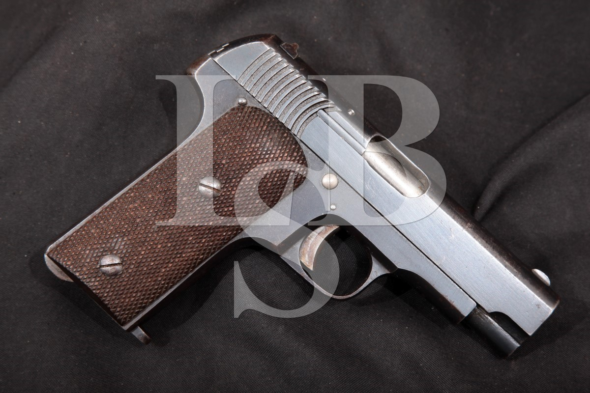 Spanish S. A. Alkartasuna Model Ruby, Blue, 3 11/16 SA Semi-Automatic Pistol, MFD 1915-18, C&R .32 Auto (7.65 Browning)