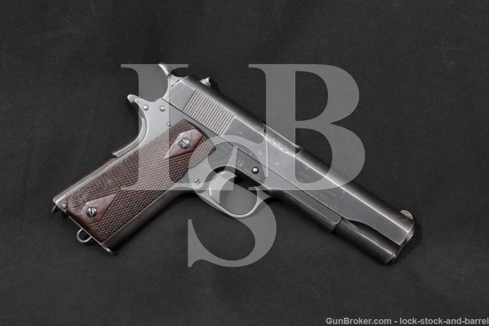 British Colt Government Model 1911 .455 Webley Semi-Auto Pistol, 1918 C&R Royal Air Force RAF R.A.F. Mark Eley Self-Loading