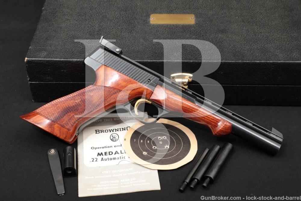"Browning FN Medalist 6 3/4"" .22 LR Semi-Auto Target Pistol, MFD 1968 C&R"