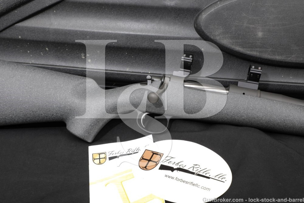 """Forbes Model 20B 20 B 21"""" 7mm-08 Sporting Bolt Action Rifle & Case"""