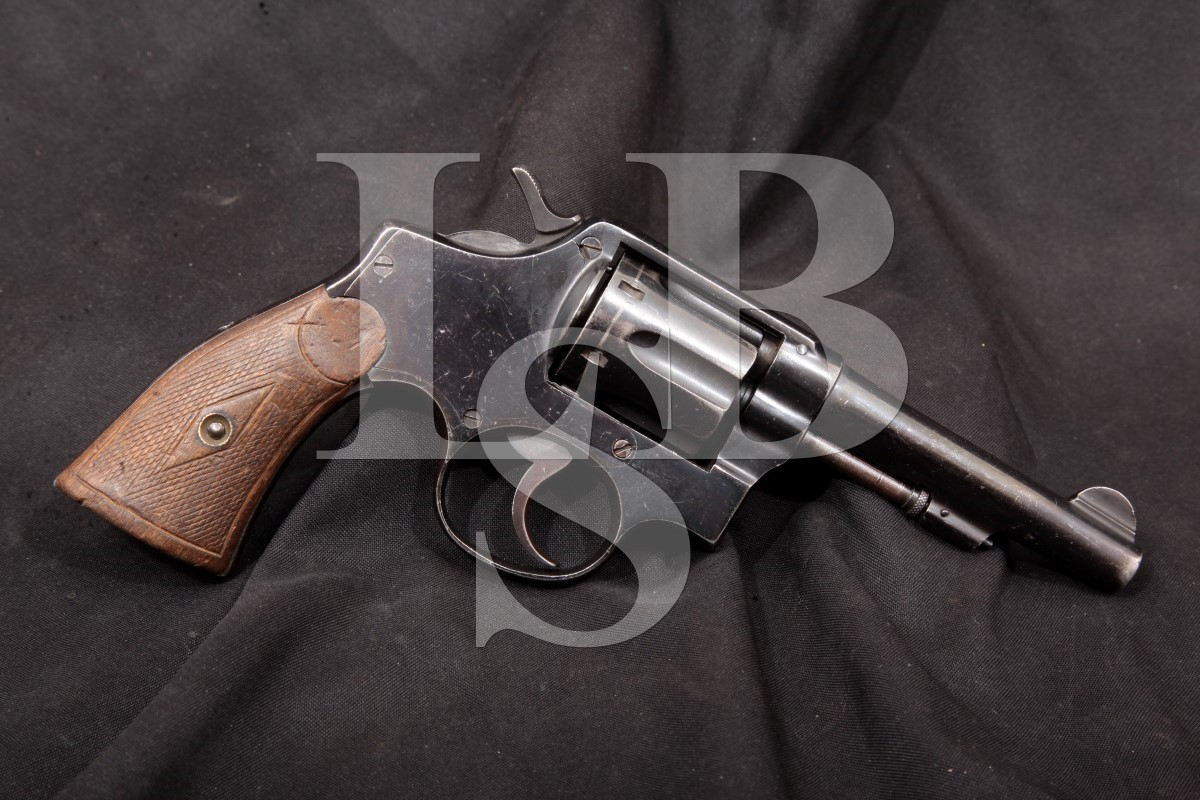 "Guns for Sale - Spanish -- Trocaola Aramzabal, Blue 4 1/4"" SA/DA Double-Action Revolver, MFD Pre-1930 C&R"