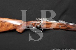 J. Smets Engraved Dumoulin-Herstal Safari .375 H&H Magnum Bolt action Rifle