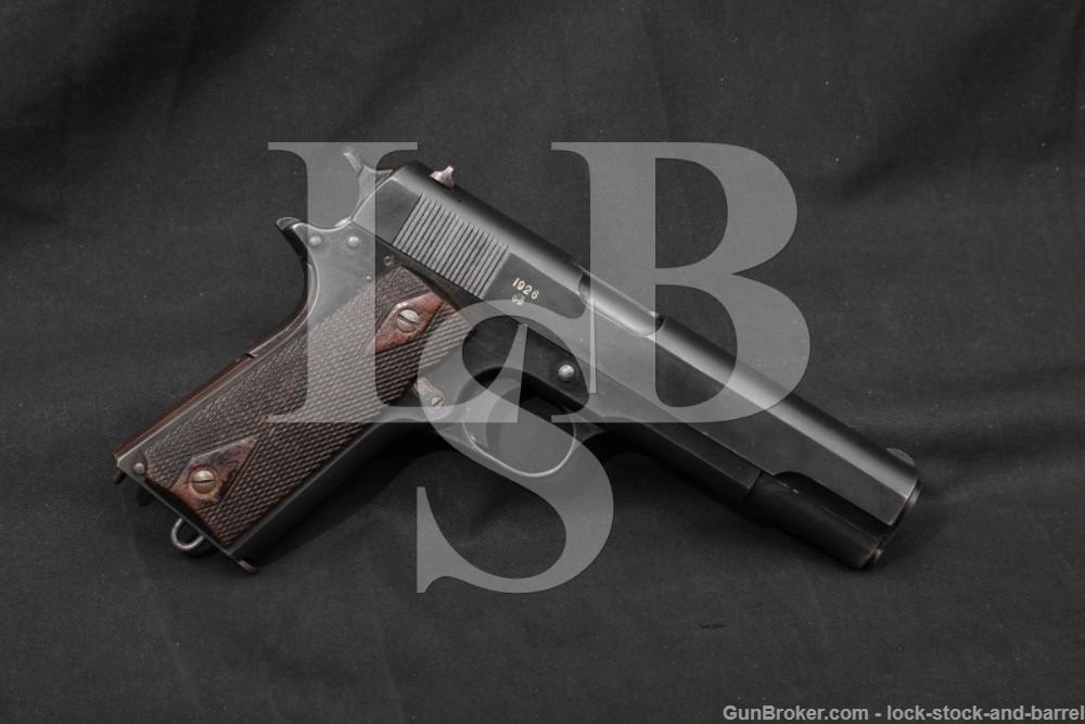 Norwegian M1914 M-1914 Kongsberg Colt 11.25mm Semi-Auto Pistol, 1926 C&R