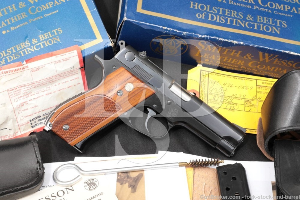 Smith & Wesson S&W Model 39 USAF General Officer's GO Pistol, 1957-1969 C&R Air Force Maj Gen Edward Dillon 9mm Semi-Automatic