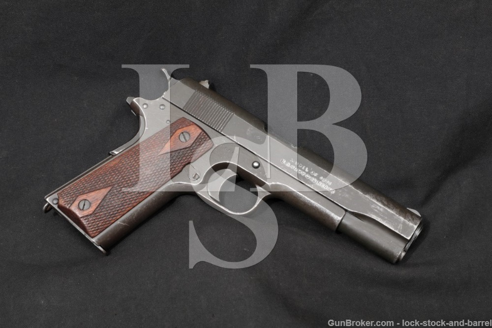 WWI Remington UMC Model of 1911 US Army .45 ACP Semi-Auto Pistol, 1918 C&R