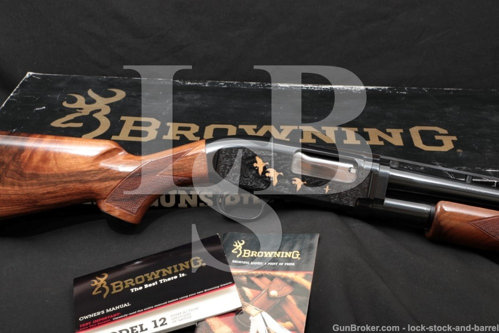 "283 of 4,000 Browning Grade V 5 Model 12 28 GA 26"" Pump Action Shotgun 1990"