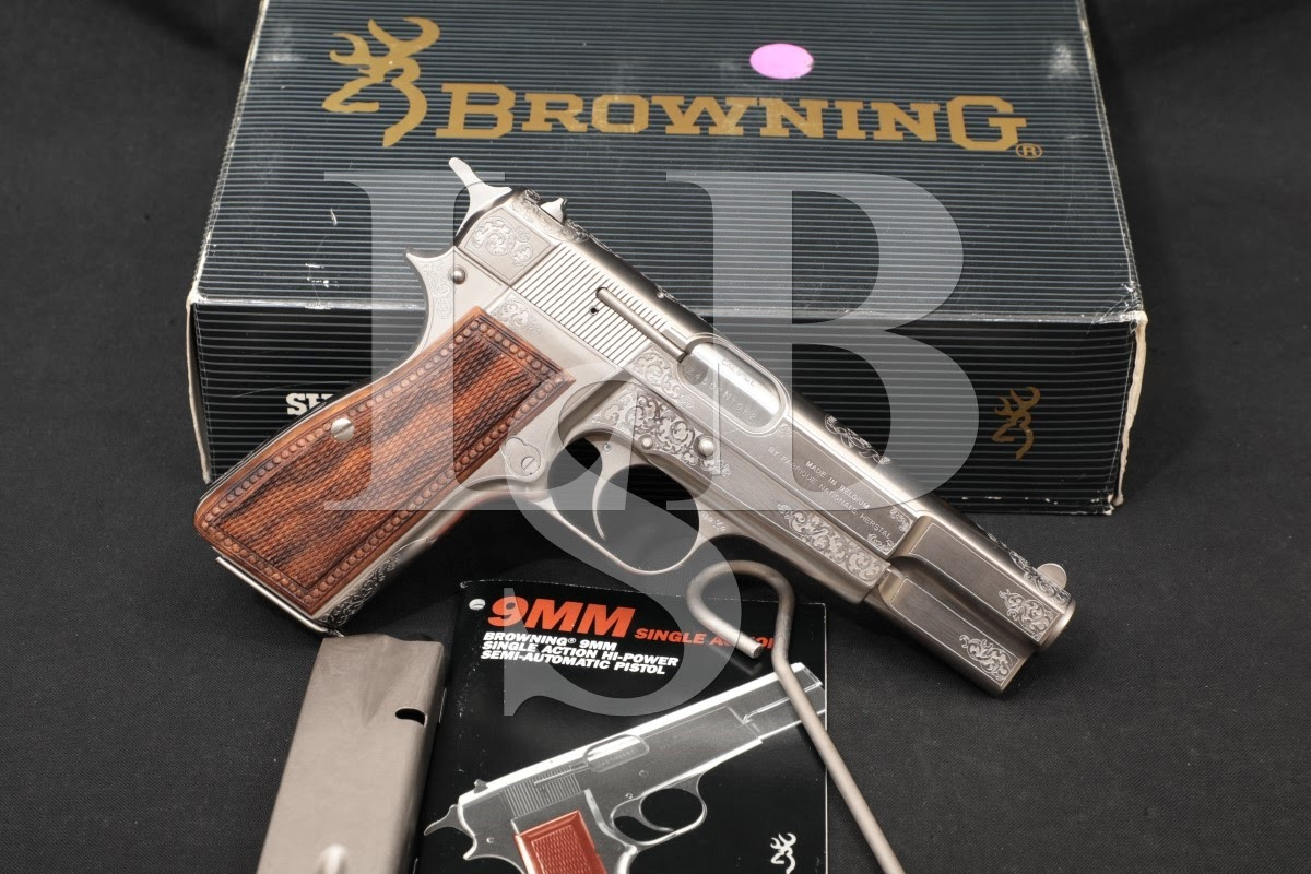 62 of 100 Lucien Ernst Engraved FN Browning Hi-Power Centenary 9mm Pistol