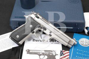 """Beretta Mdoel 96 Inox .40 S&W 4.9"""" DA/SA Semi-Automatic Pistol MFD 2011"""