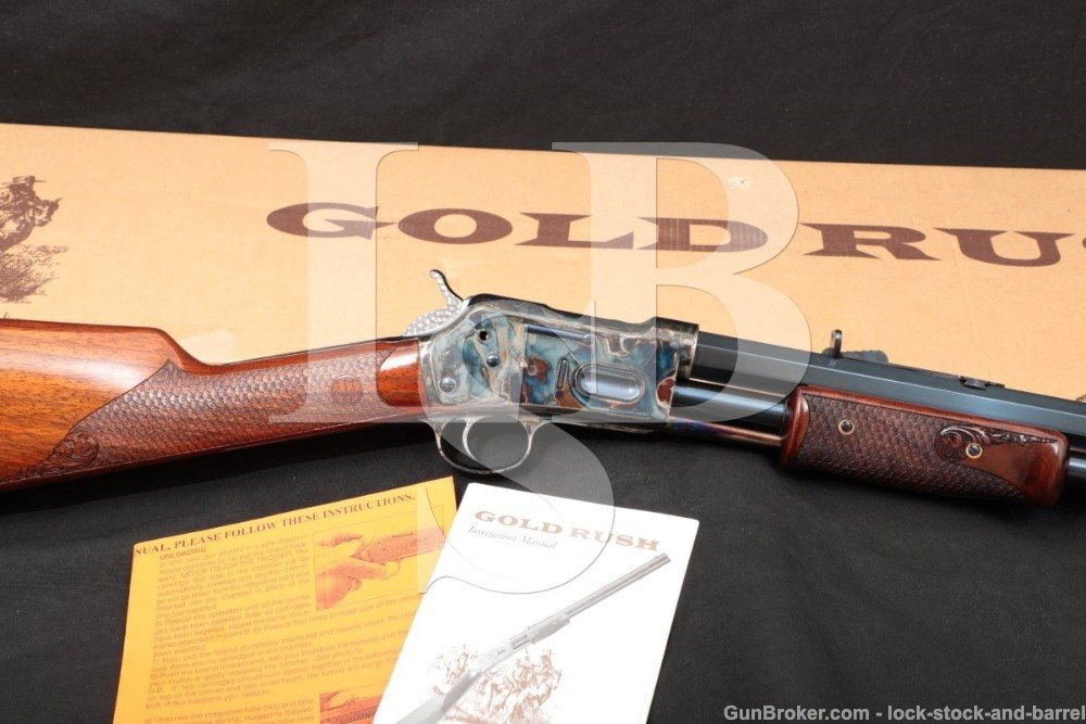 "Beretta Uberti Gold Rush Deluxe Blue 24"" .45 LC Pump Slide Action Rifle"