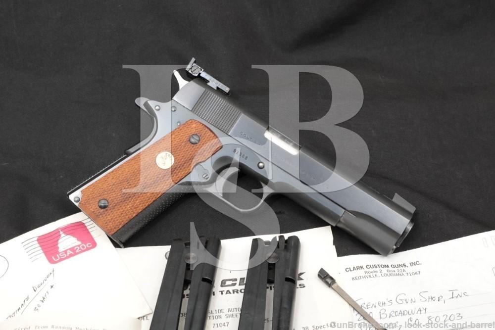 Clark Custom Model 61 .38 Spl Mid-Range Semi-Auto Pistol, 1951/1985 NO CA