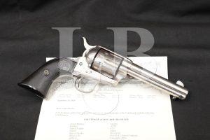 "Colt 1st Gen Single Action Army SAA 4 3/4"" .32-20 WCF Revolver 1891 Antique"