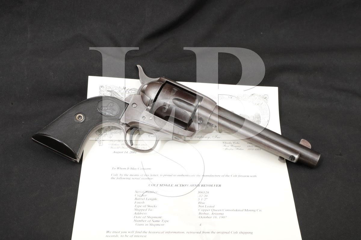 Colt 1st Gen Single Action Army SAA 5 1/2″ .32-20 WCF Revolver MFD 1907 C&R
