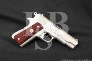 Colt Combat Commander Nickel Pre-Series 80 .45 ACP Semi-Auto Pistol, 1972
