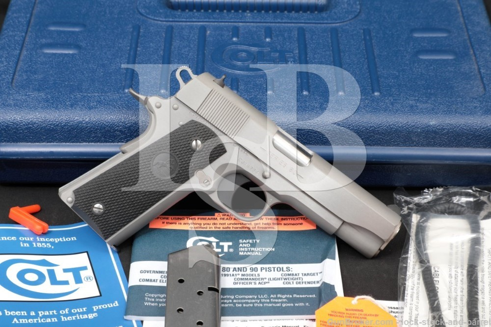 Colt Commander Model 04091U Stainless 1911 .45 ACP Semi-Auto Pistol, 2007
