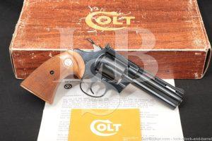 "Colt Diamondback Model D5140 Blue 4"" .22 LR SA/DA Revolver, MFD 1978 NO CA"