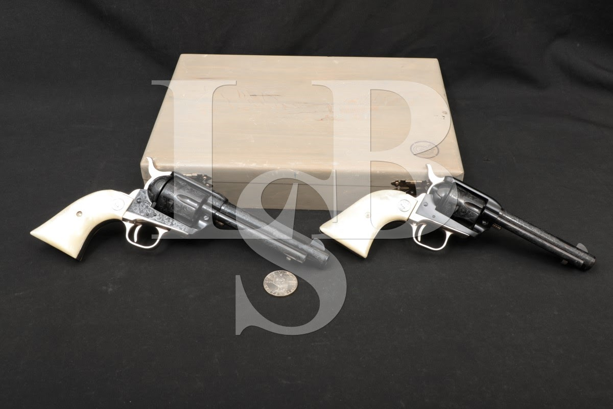 Colt Nevada Centennial Gouse Engraved SAA Frontier Scout Revolvers 1964 C&R