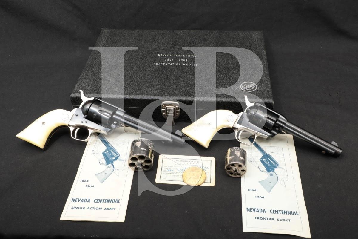 Colt Nevada Centennial Presentation Models SAA Frontier Scout, MFD 1964 C&R