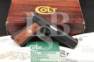 Colt Service Model Ace .22 LR 1911 Semi-Automatic Pistol, MFD 1980 NO CA